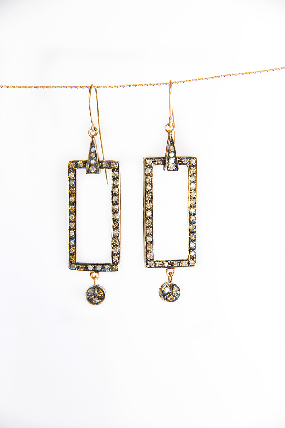 square diamonds earrings