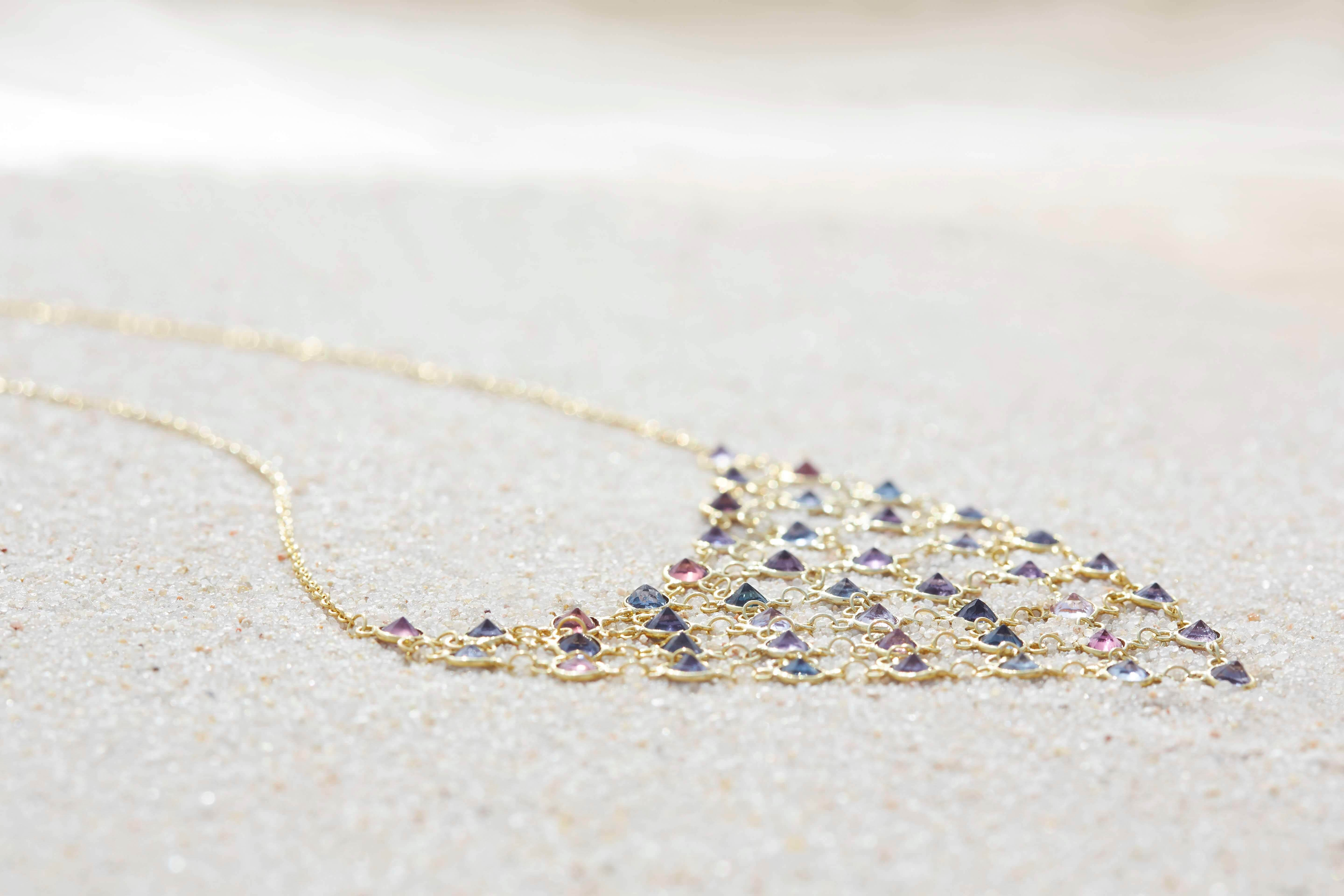 artisan sapphires necklace