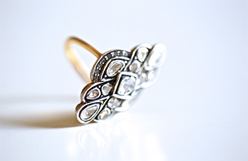 Mosaic diamonds ring