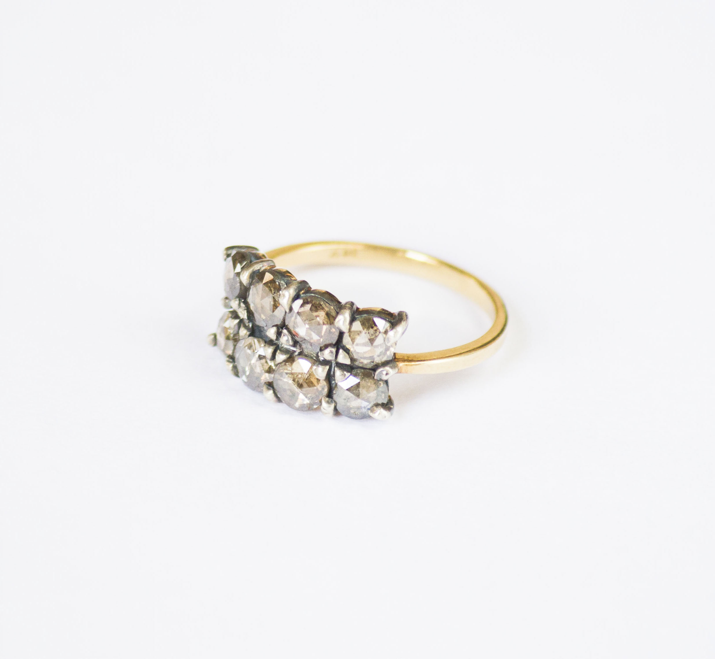 erica rose lyst rings in white cluster diamond cut gallery jewelry georgian weiner product ring normal