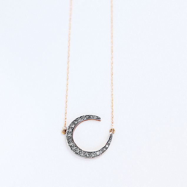 artisan diamonds moon necklace