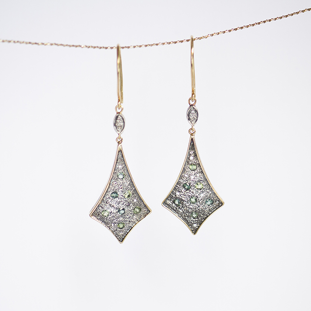 artisan tropical drop earrings