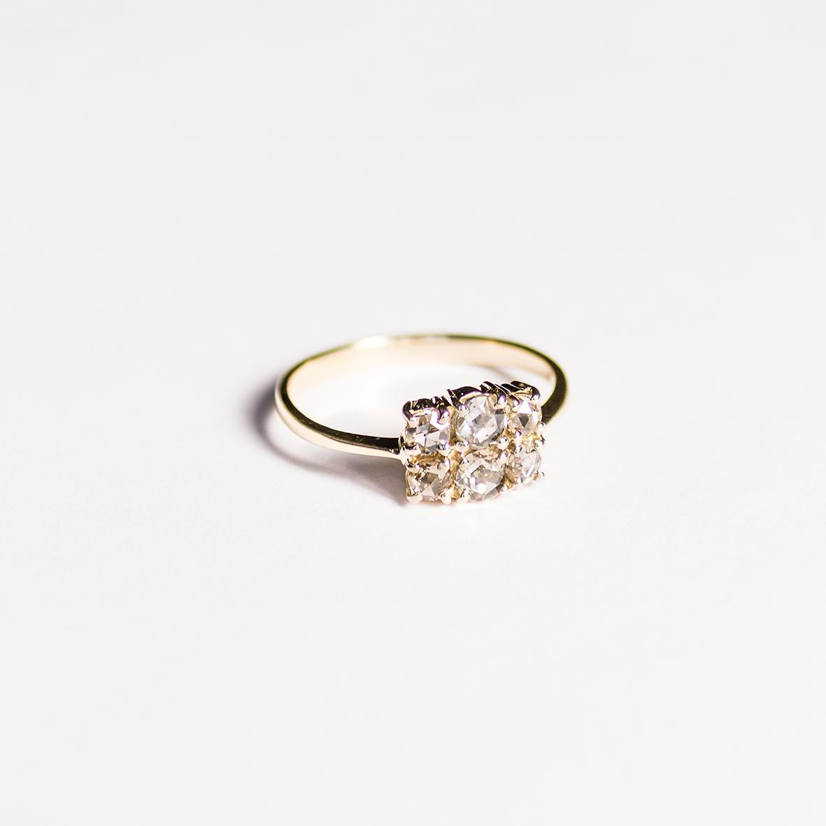 3. OONA_engagement_principal_six rose cut diamond ring
