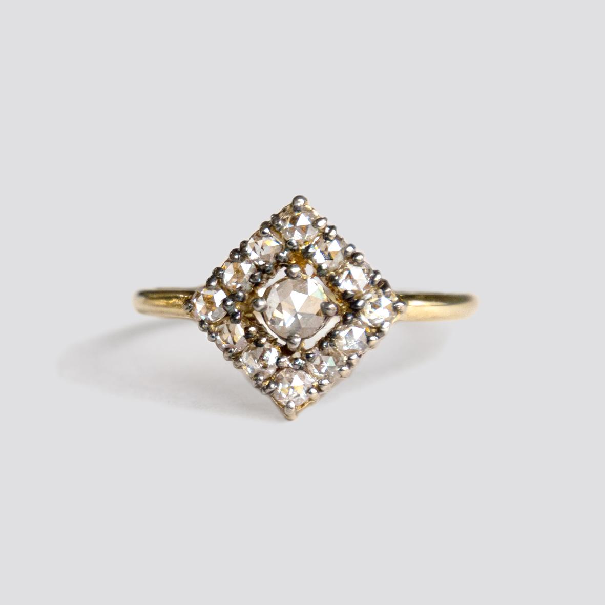 1. OONA__lotus_ficha 1_rhomb rose-cut diamond ring