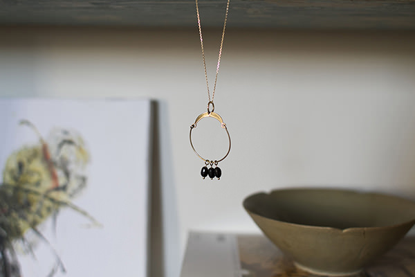 precious gems necklace handmade