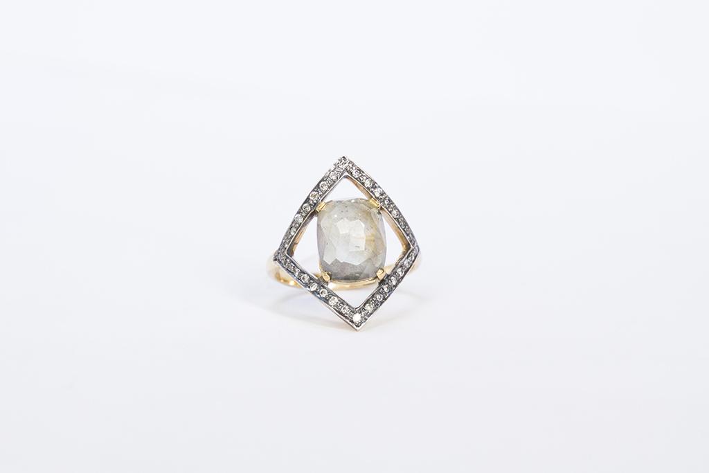 Rhomb sapphires ring Image 1