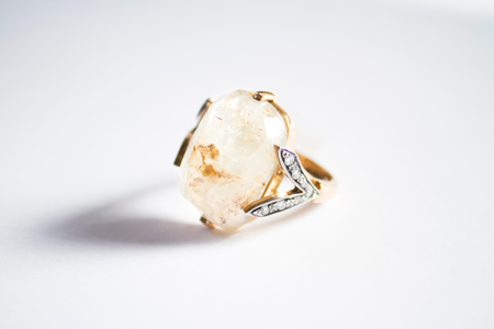Sapphires embracement yellow ring