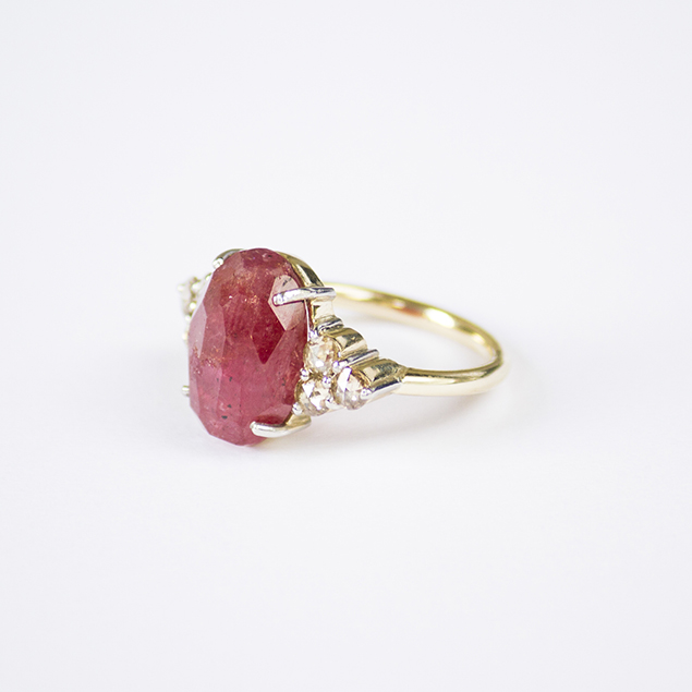 ruby sapphires diamond ring handcrafted