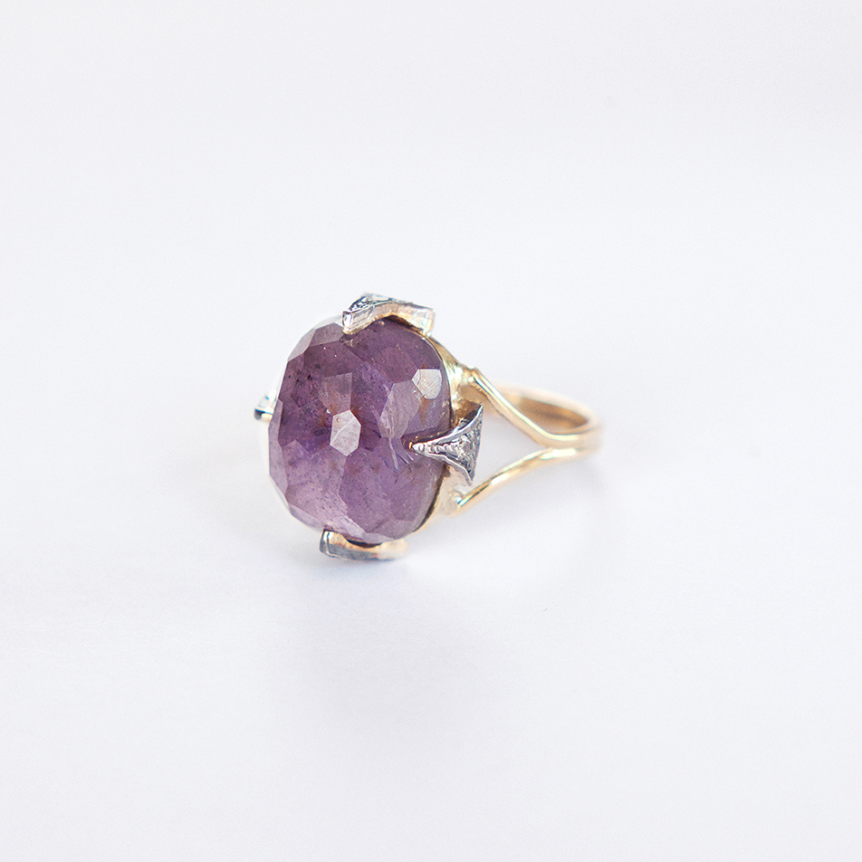 hancfrated spinel ring handmade