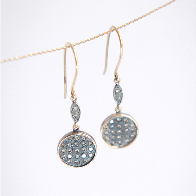issa diamonds drop earrings artisan jewellery