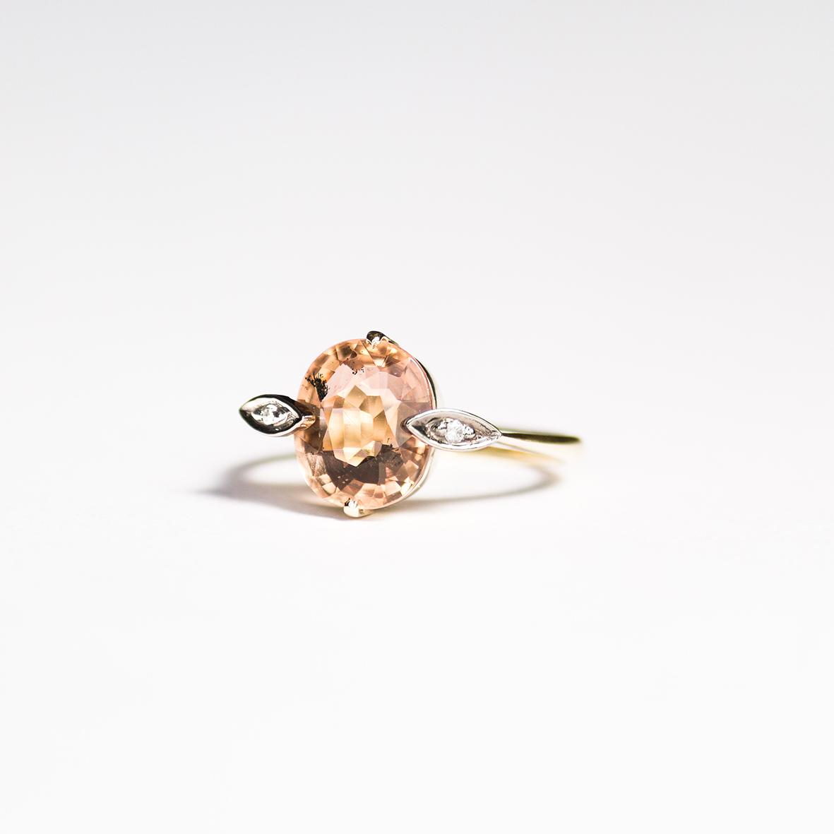 1. OONA_engagement_ficha2_peach tourmaline ring